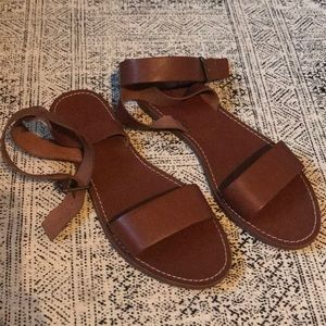 Madewell tan leather sandals sz 9 nwot